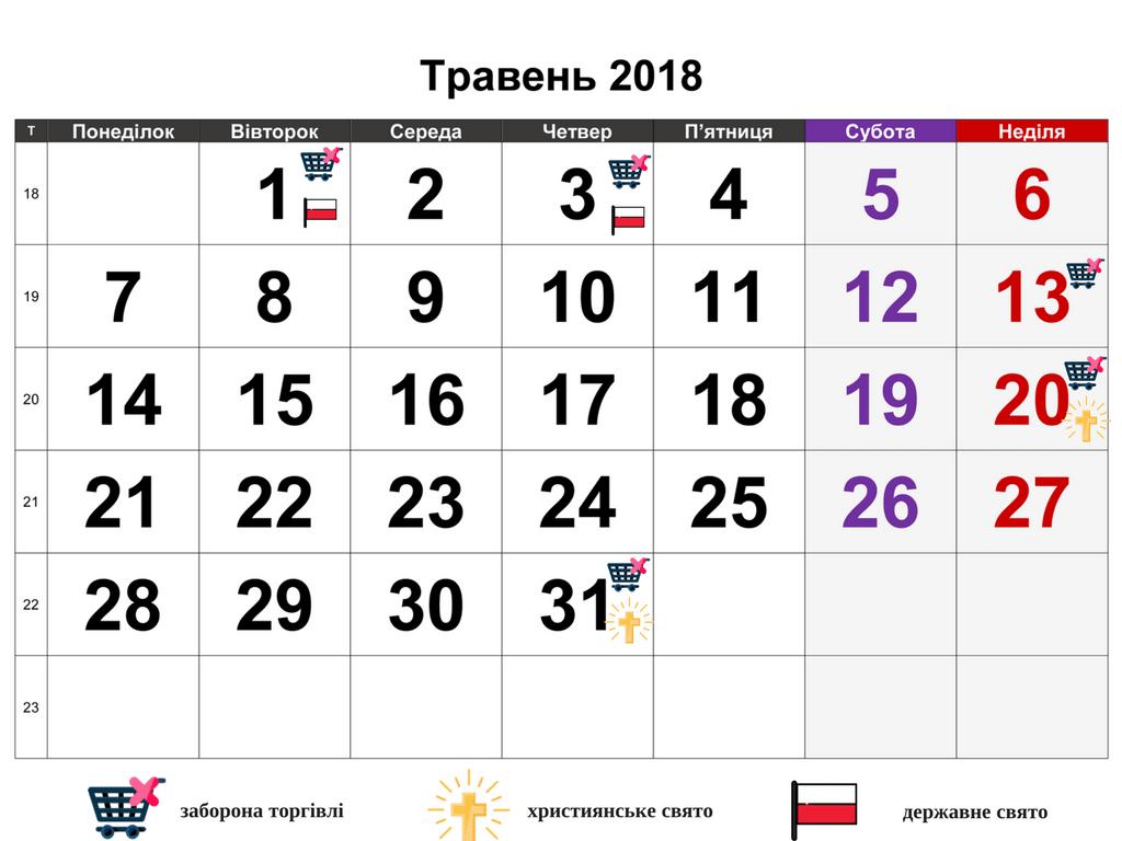травневі вихідні в Польщі